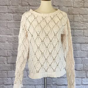 Tommy Hilfiger cream cable sweater size L
